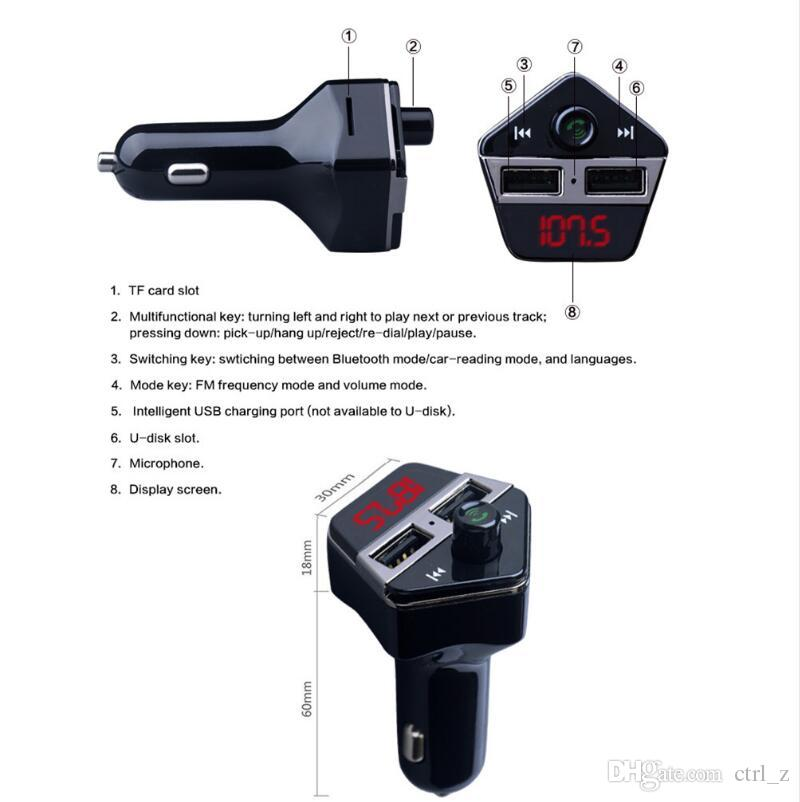 Car Bluetooth A2DP FM Transmitter GPS Positioning gps tracker 12V 3.1A Dual USB Car Charger MP3 player with APP