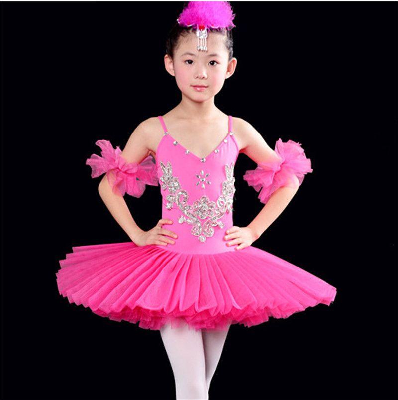 eab9f35f6b Compre Profissional Branco Cisne Lago Ballet Tutu Traje Meninas Crianças  Bailarina Dress Crianças Ballet Dress Dancewear Vestido De Dança Para  Meninas 4 Cor ...