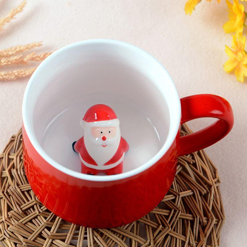 mom s hand 400ml 3d lovely christmas coffee mug stereo shape cartoon animal ceramic lovers cup christmas gift coffee cups and mugs coffee cups mugs from - Christmas Coffee Cups