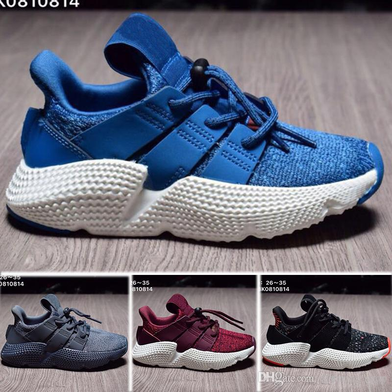 new product 21681 8171c High quality Men Women Kids Originals Prophere Climacool EQT 4s Four  generations Clunky Shoe sports Running Shoes black Casual shoes sneaker