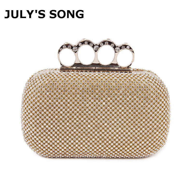 382313f12 Crystal Evening Bag Clutch Bags Clutches Wedding Purse Rhinestones Wedding Handbags  Silver/Gold/Black Finger Ring Evening Bag Y18103003 Clutch Purses White ...