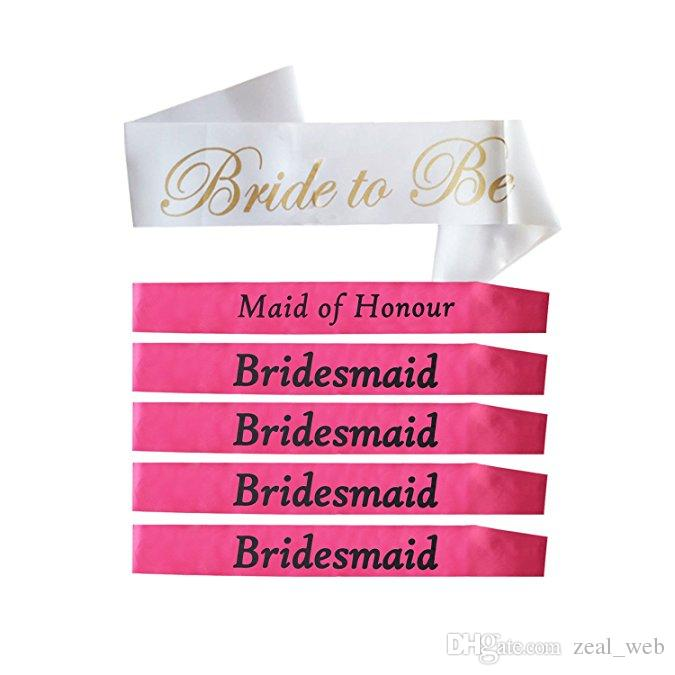 Bachelorette Saches Bridesmaid Sashe Bride To Be Wedding Bridal Shower Party Favors Gifts Decorations Supplies 2nd Birthday