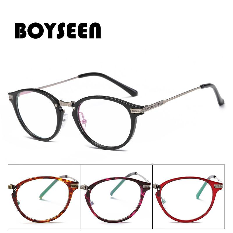 66b8030a5c 2018 BOYSEEN TR90 Spectacle Frame Cat Eye Glasses Frame Clear Lens Women  Eyewear Optical Frames Myopia Black Eyeglasses 1691 From Arrowhead