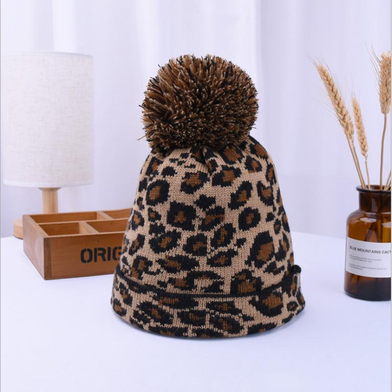 b624a6dc1e397 New Fashion Women Beanie Hat Leopard Women Cap Spring Autumn Winter ...