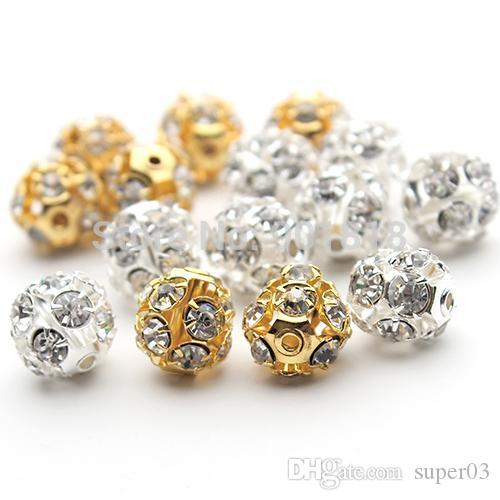 6mm 8mm 10mm Gold Silver Round Pave Disco Ball Beads Rhinestone Crystal  Spacer Beads for DIY Jewelry Findings F2419 Online with  1.73 Piece on  Super03 s ... b3d20997d966