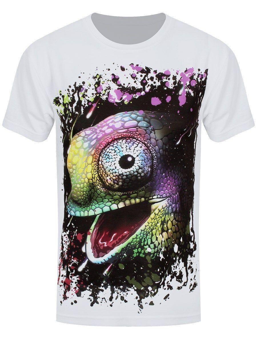1f95fcab Unorthodox Rainbow Chameleon Men'S White Sub T Shirt Quirky T Shirt ...
