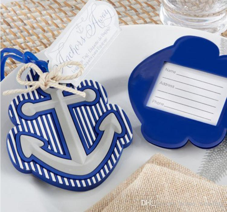 high quality beach theme anchors away travel luggage tag wedding bridal shower favor party gifts sn1084 special wedding favors spiderman party supplies from