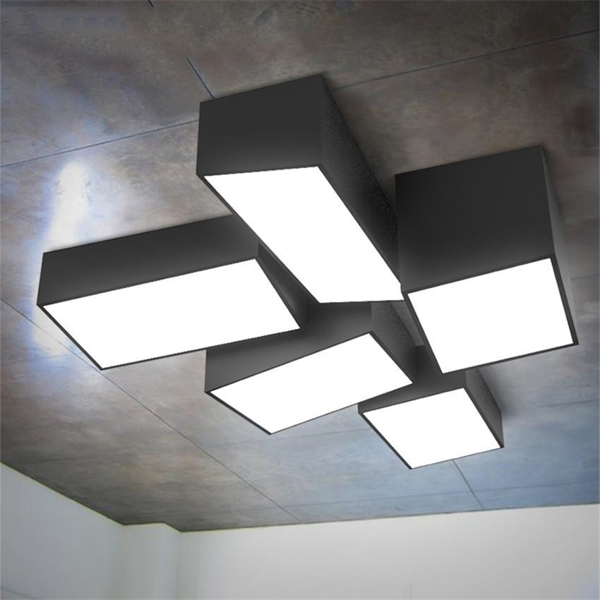 Großhandel Moderne LED Deckenleuchten Lampen Schwarz / Weiß ...
