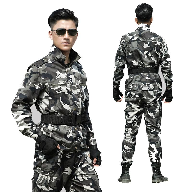 Military Uniform Men Army Special Forces Clothing Outdoor Wear Combat Shirt Tactical Cotton Autumn Winter Militar For Man Set Novelty & Special Use