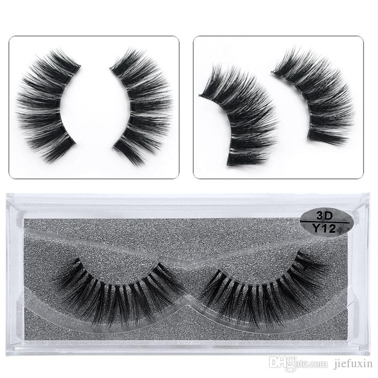 5628514841c JIEFUXIN Mink Eyelashes Invisible Band Lashes Natural 3D Mink False Eyelash  Full Strip Transparent Band Lashes Cilios Posticos Y12 Eyelashes Falling  Out ...