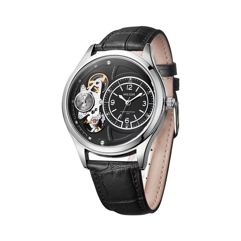 0b3d34682c5 Compre Wholesale Megir Homens Originais Assista Top Marca De Luxo Relógios  De Quartzo Relogio Masculino Relógio Militar De Couro Relógio Homens Erkek  Kol ...