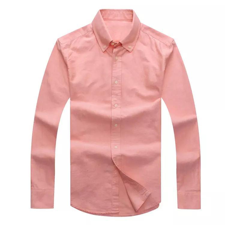 드롭 배송 2019 가을 남자의 긴 소매 슬림 맞춤 셔츠 남성 미국 브랜드 폴로 셔츠 패션 100 % 옥스포드 캐주얼 셔츠 작은 말 의류