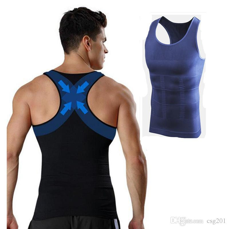 490c0f1b8aa13 2019 Men Gynecomastia Vest Slimming Boobs Body Shaper Control Belly Tummy  Trimmer T Shirt Sleeveless Back Support Underwear Shapewear Hot Shapers  From ...