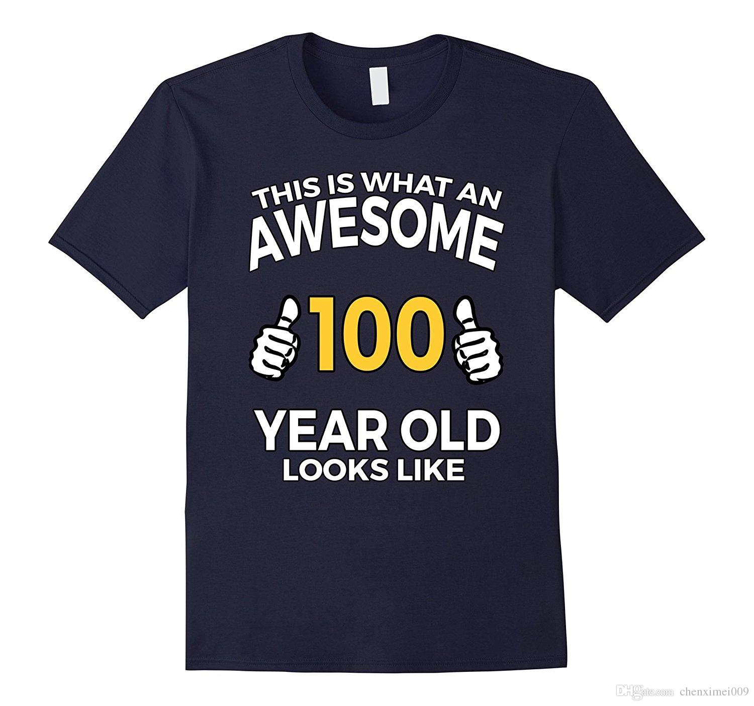 100 Year Old Birthday Gifts T Shirt For Senior Man Or Woman Og Shrt From Chenximei009 1421
