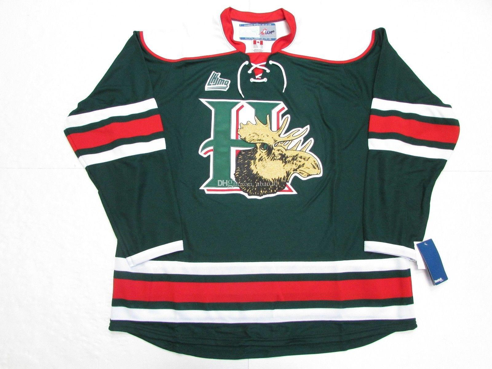 abb241dec 2019 Halifax Mooseheads Retro Ice Hockey Jerseys Green Red Mens Stitched  Custom Any Number And Name From Abao20