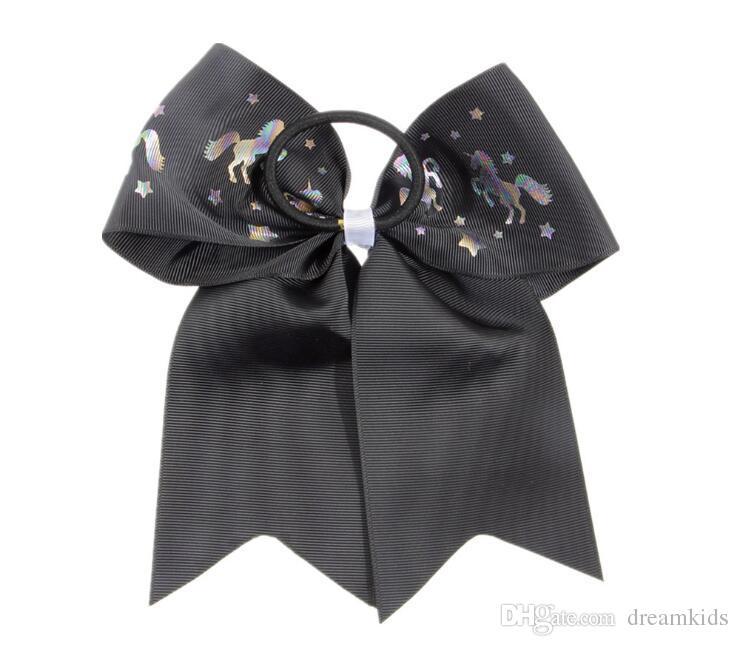 es Sólidos Arcos Swallowtail Arqueamientos coloridas Niñas unicornio Grosgrain Cinta diadema Arco de pelo Niños Boutuique Accesorios para el cabello 17 * 21 cm