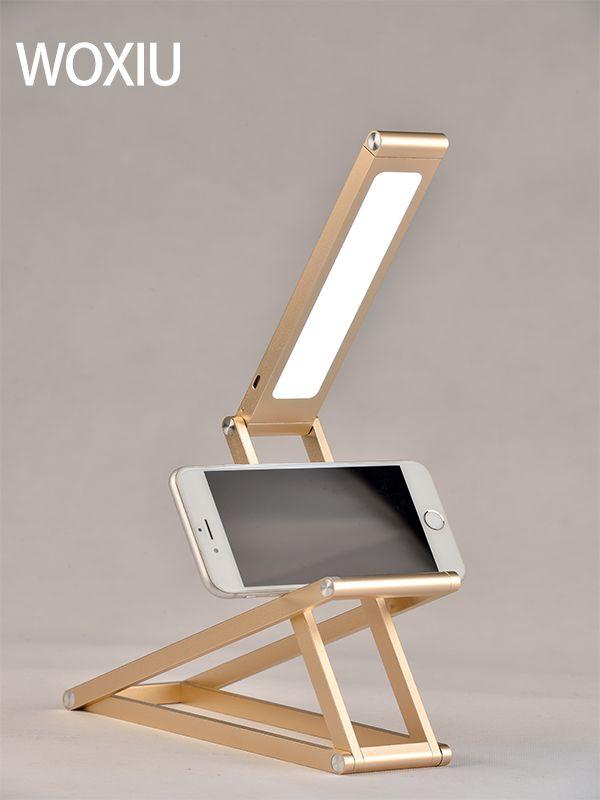 WOXIU led lampe de table style moderne changement de modèle Murs suspendus Mettez le téléphone facile à transporter éclairage extérieur Or rose couleurs argentées