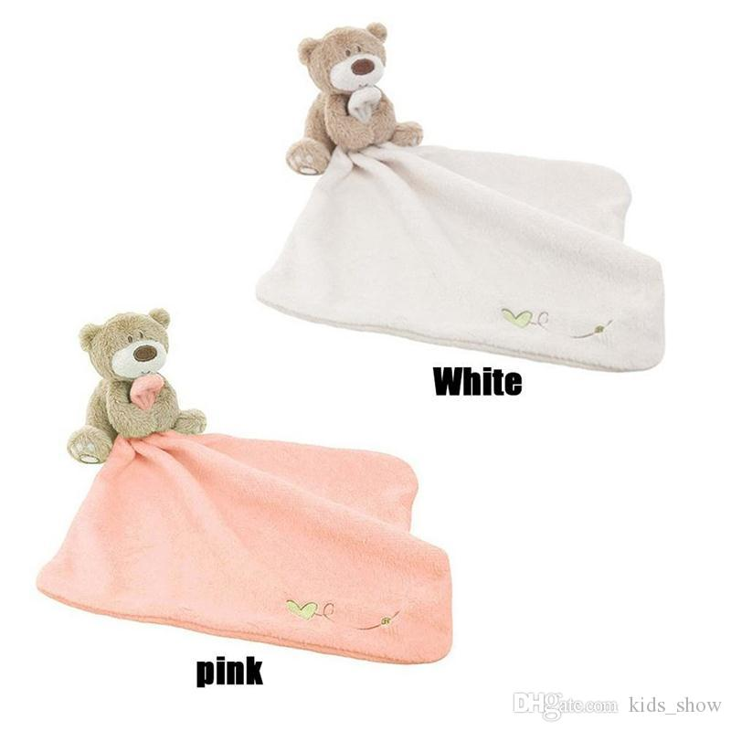 lovely Baby Sleeping Appease Blanket Toddler Baby Toys Cotton Bib Toy Bear Dolls Bebe Appease towel
