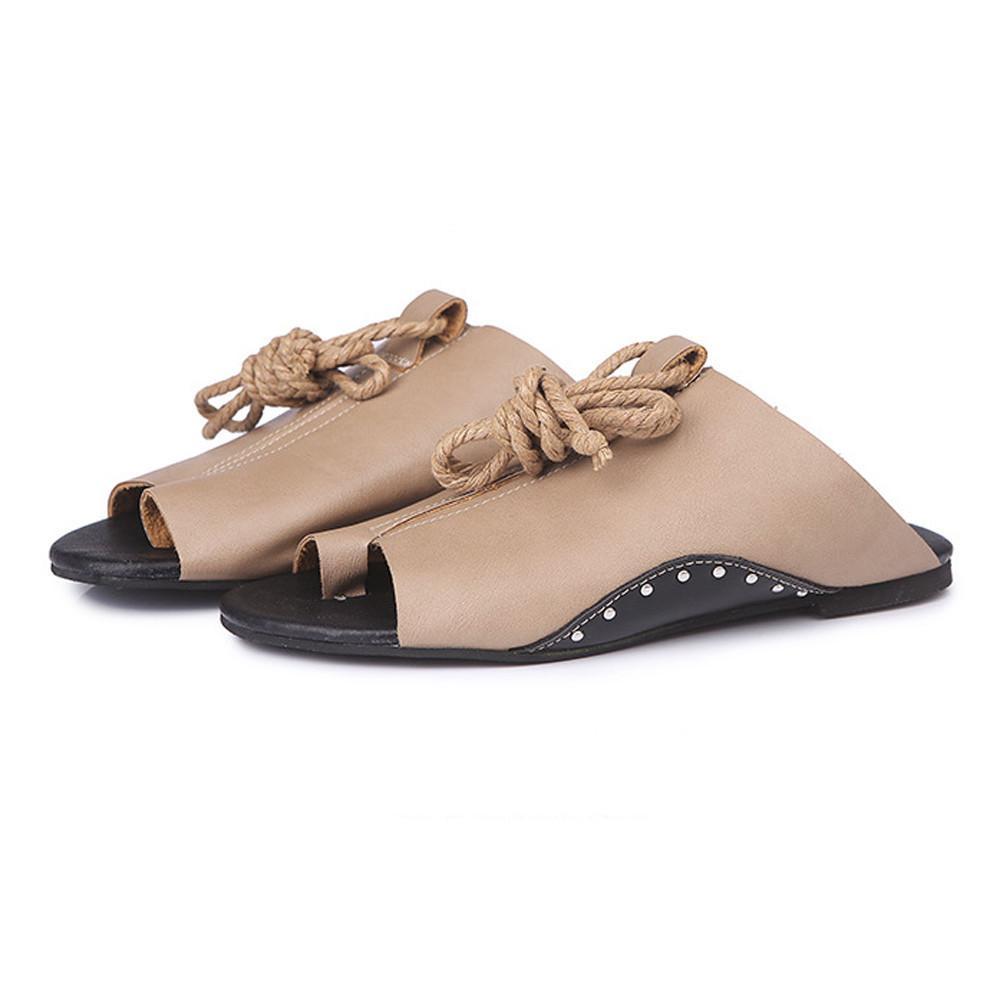106c5a426 Compre Mujeres De Fondo Plano Sandalias Romanas Tobillo Abierto Correas  Planas Plataforma Cuñas Zapatos Sandalias Mujer Chaussures Femme Ete 2018 A   20.41 ...