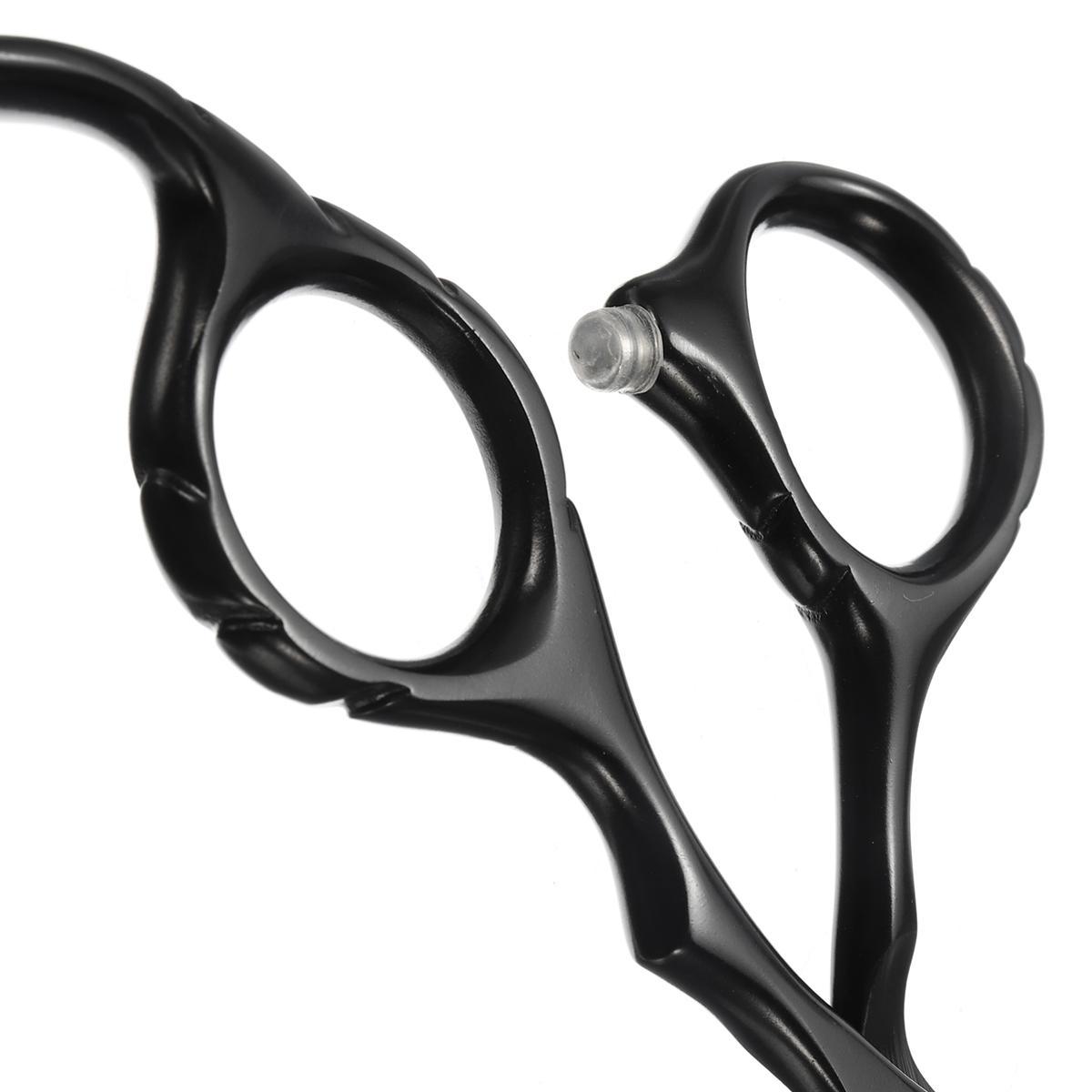Schwarz Friseur Gerade Verdünnung Styling Schere Professionelle Haarscheren Tarntes Scheren Flache Zähne Klingen Werkzeug