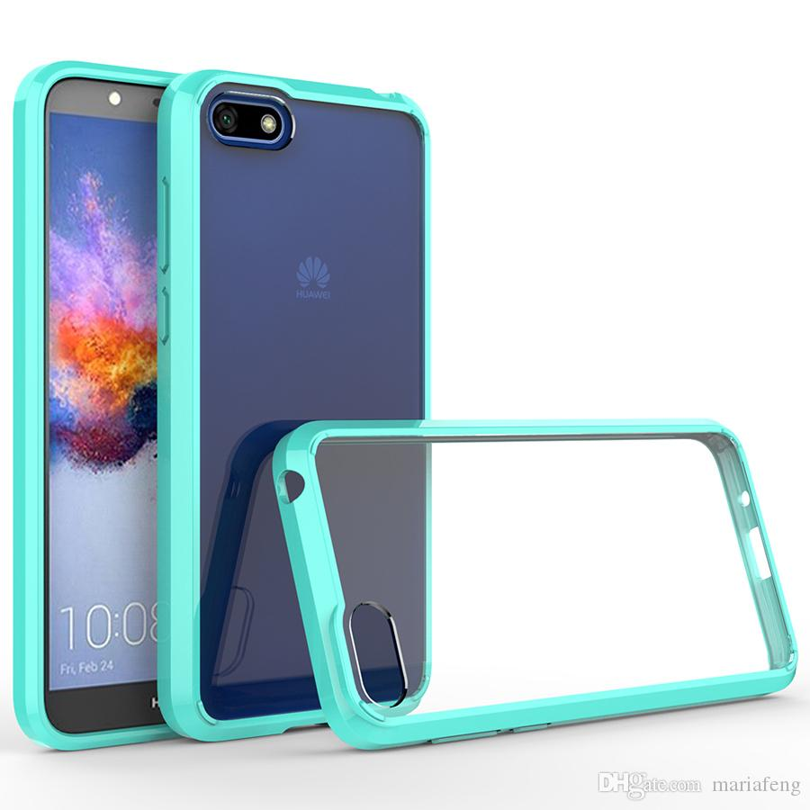Para huawei y5 y6 y7 prime 2018 htc u12 plus blackberry key2 cristal suave  tpu bumper limpar transparente phone case