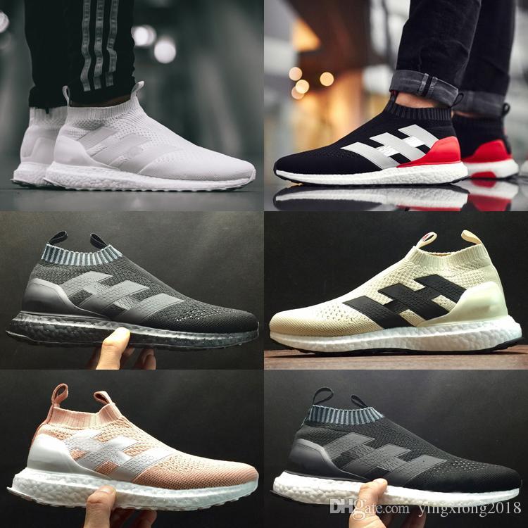8ebda249 Compre 2018 ACE 16+ PureControl Ultra Boots Uncaged Athletic Sports Calzado  Casual Para Mujer Hombre Entrenadores Sneake Corriendo Cómodos Zapatos Para  ...