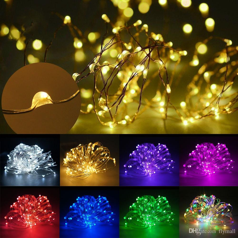 3XAA Battery 10M 100 LED String Lights for Xmas Garland Party Wedding Decoration Christmas Flasher LED Copper Wire Fairy Lights