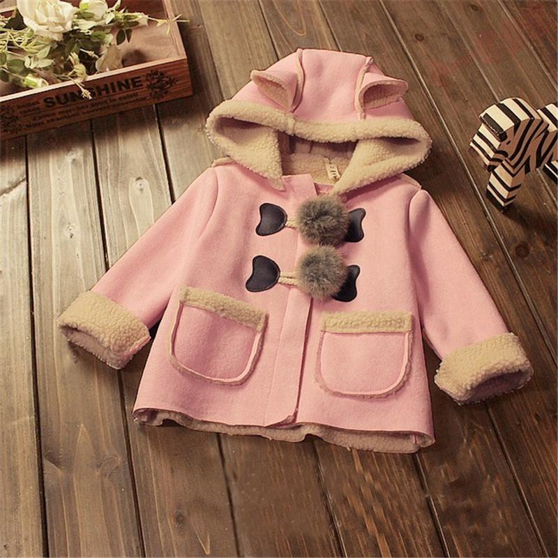 d384c9c1c0d4 Baby Girls Christmas Autumn Winter Jacket Coats Children Hooded ...