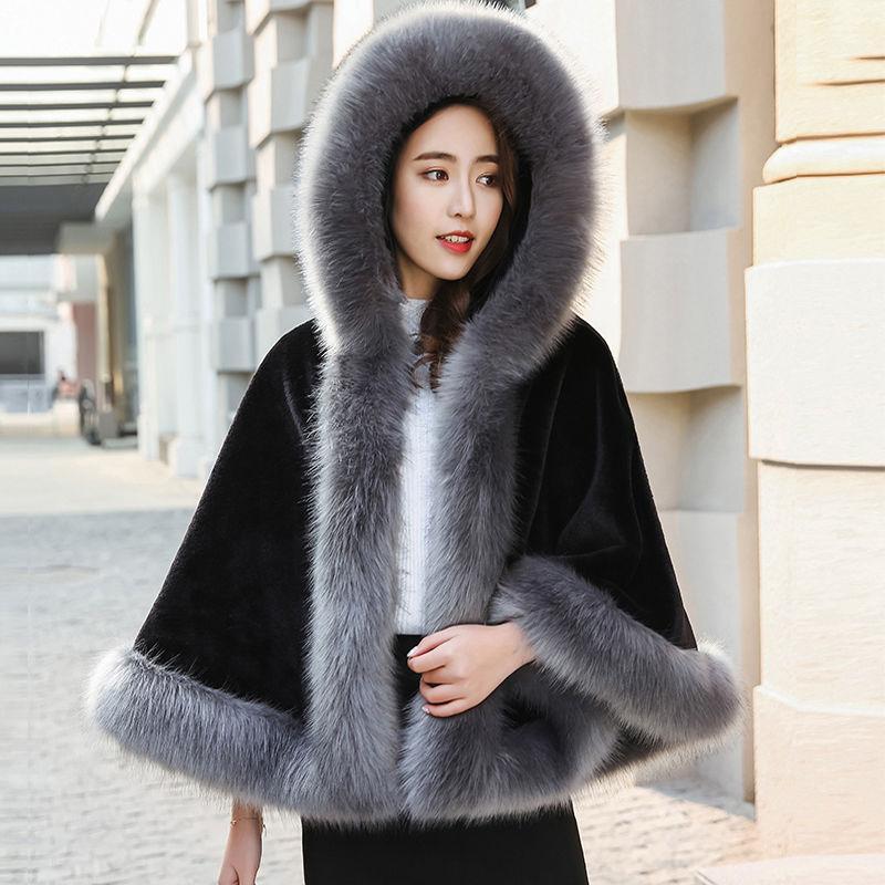 Abrigo cuello piel