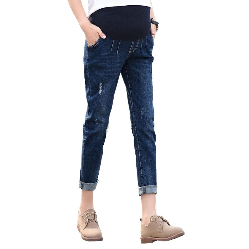 3cfa7904fa211 2019 Jeans Maternity Pants For Pregnant Women Clothes Trousers Nursing Prop  Belly Legging Pregnancy Clothing Overalls Ninth Pants From Ouronlinelife,  ...
