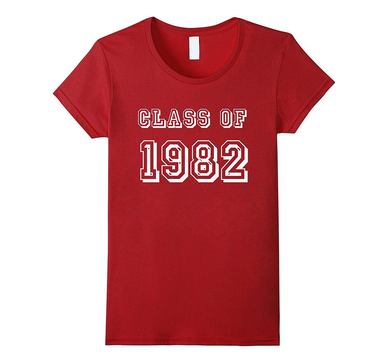 Class Of 1982 82 School Reunion Graduation Party T Shirt Design 1 T