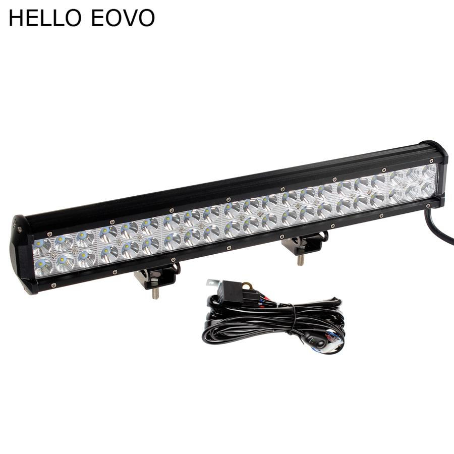 Hello Eovo 20 Inch 126w Led Work Light Bar Wiring Kit For Off Road Boat Lights Driving Offroad Car Truck 4x4 Suv Atv Combo Portable