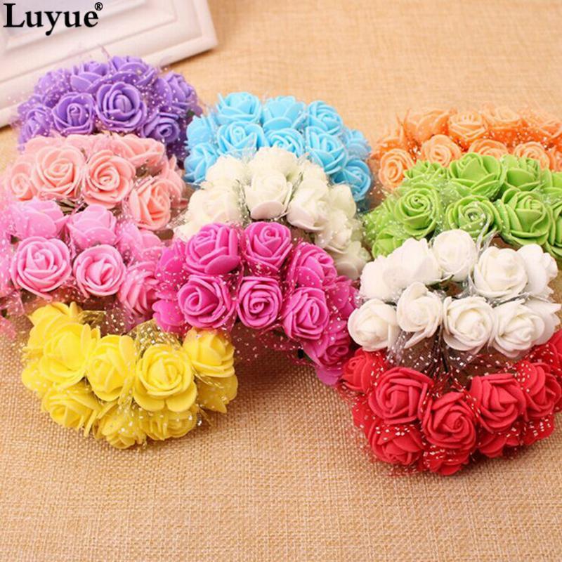 Acheter Mousse Artificielle Rose Multicolore Pe Fleurs Tete Diy