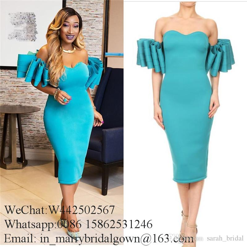 Sexy Pink Short Cocktail Dresses 2020 Off Shoulder Plus Size Arabic African Cheap Black Girls Formal Club Dresses Evening Wear Prom Gowns