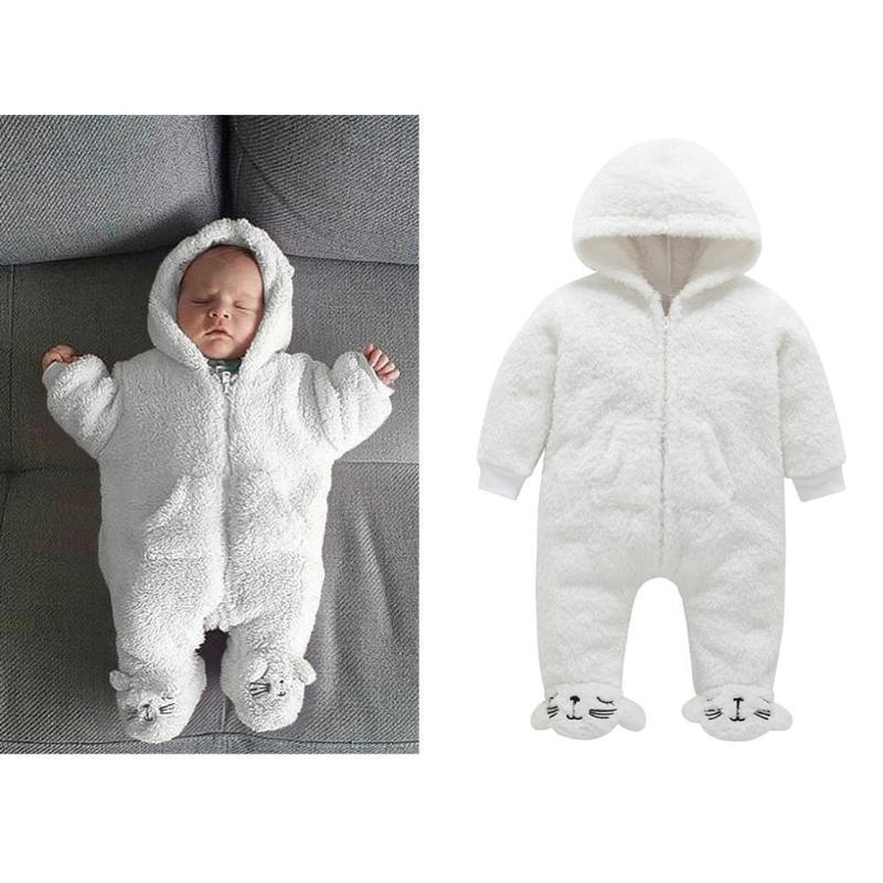d49ef997321e77 Inverno Criança Meia-calça Urso estilo coral infantil velo Hoodies macacões  recém-nascidos sliders bebê newborn toddle clothes