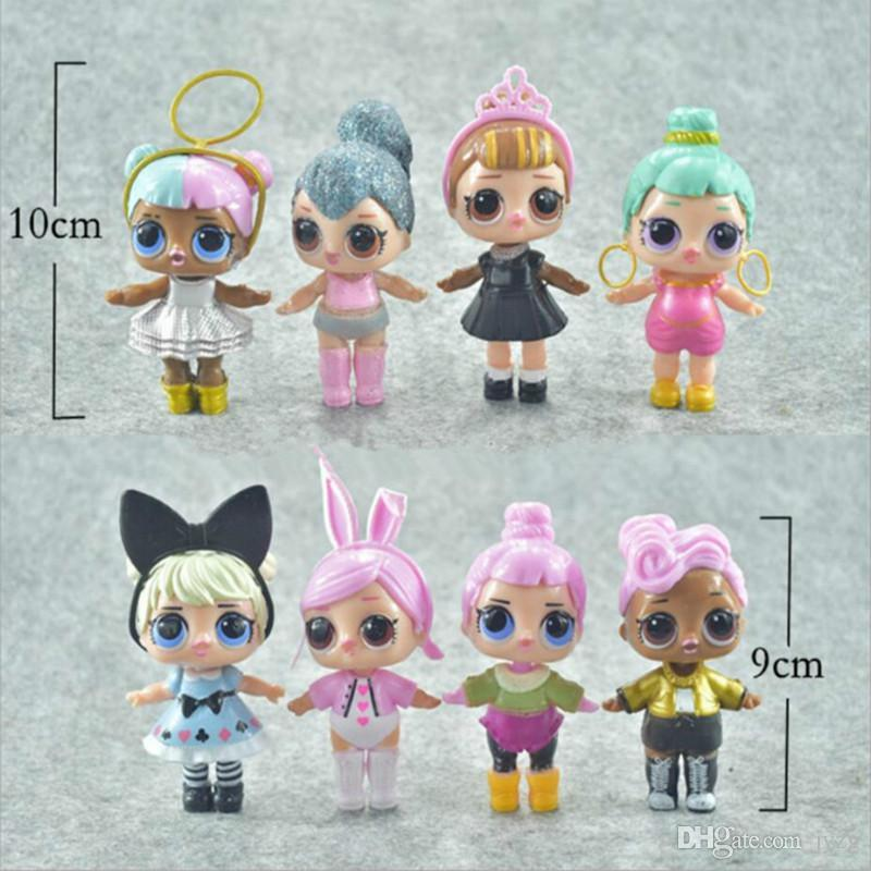 9CM LoL Doll with feeding bottle American PVC Kawaii Children Toys Anime Action Figures Realistic Reborn Dolls for girls