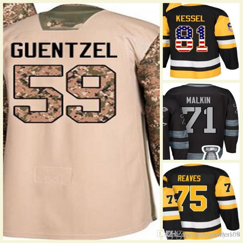 brand new 4255b be26f 2018 Custom Women Kid 58 Kris Letang 3 Olli Maatta 41 Daniel Sprong Pouliot  100th 2017 Stanley Cup Champions Mens Hockey Jerseys