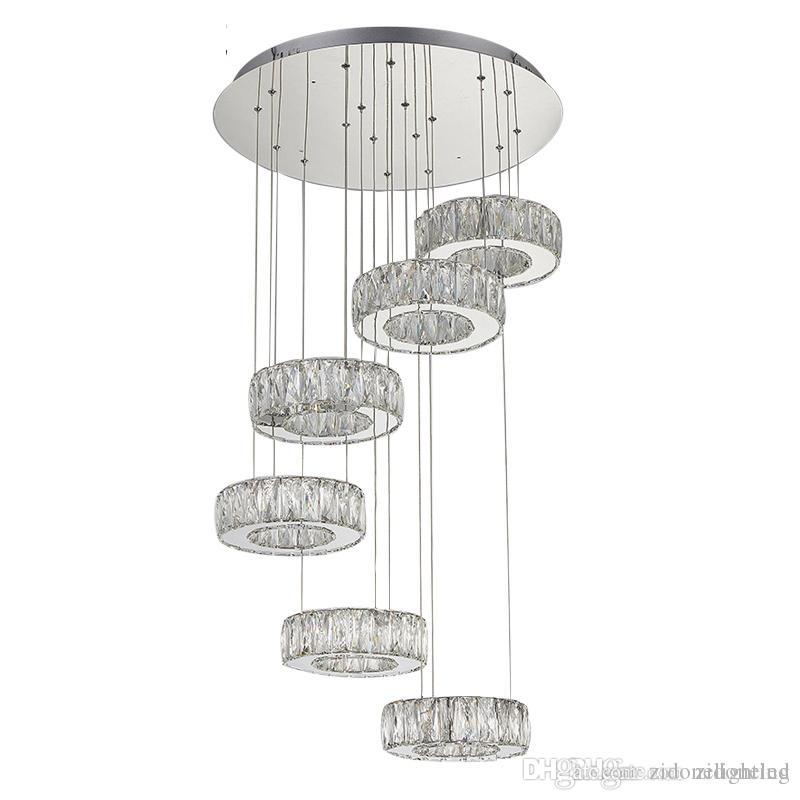 Contemporary crystal pendant lighting Kitchen Island Cheap Led Maria Theresa Chandelier Best Luxury Ceiling Hall Chandeliers Dhgate Modern Contemporary Crystal Pendant Lights Helix Chandeliers