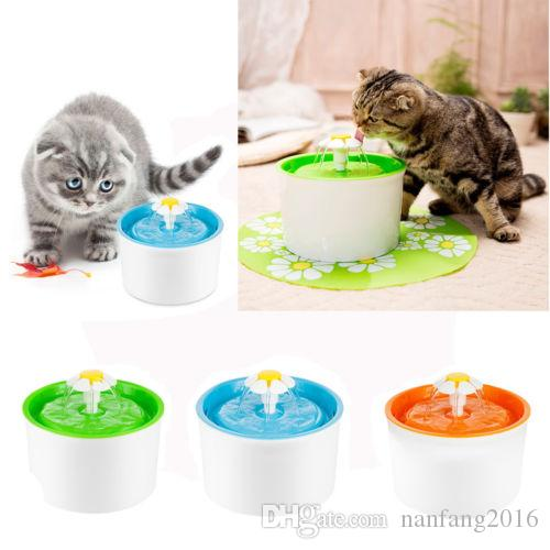 Cat Supplies Dishes, Feeders & Fountains Flower Automatic Electronic Pet Cat Dog Water Drinking Fountain Bowl Filter 1.6l