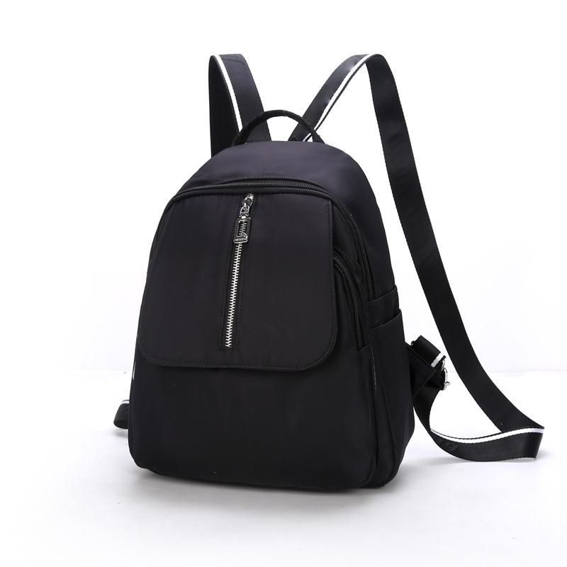 9aa91728e15d 2018 Solid Backpack Girt School Bags For Teenage College Wind Women High  Student Bag Black Nylon Waterproof Backpack Dakine Backpack Best Backpack  From ...