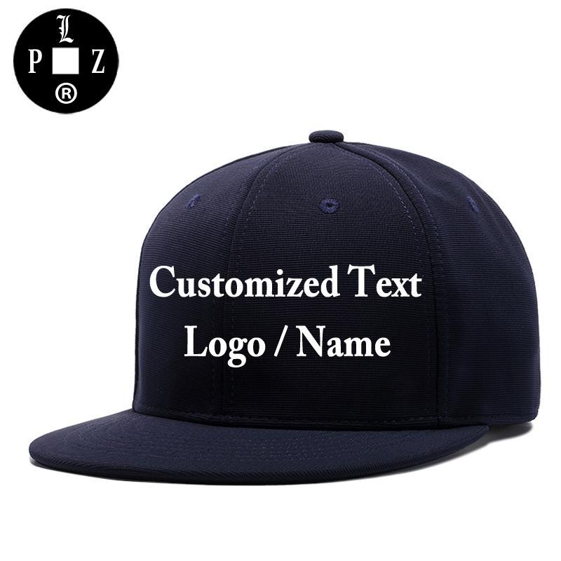 PLZ Customized Cap 3D Embroidery Custom Made Logo Snapback Men Women Family  Team DIY Design Name Hat Cotton Navy Blue UK 2019 From Annuum 75c21a78d83