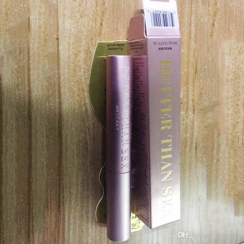 ¡En stock! Volumen Rímel Rosa de oro Mejor que el rimel negro de alta calidad Máscara negra fresca DHL libera la nave ¡Calidad superior!