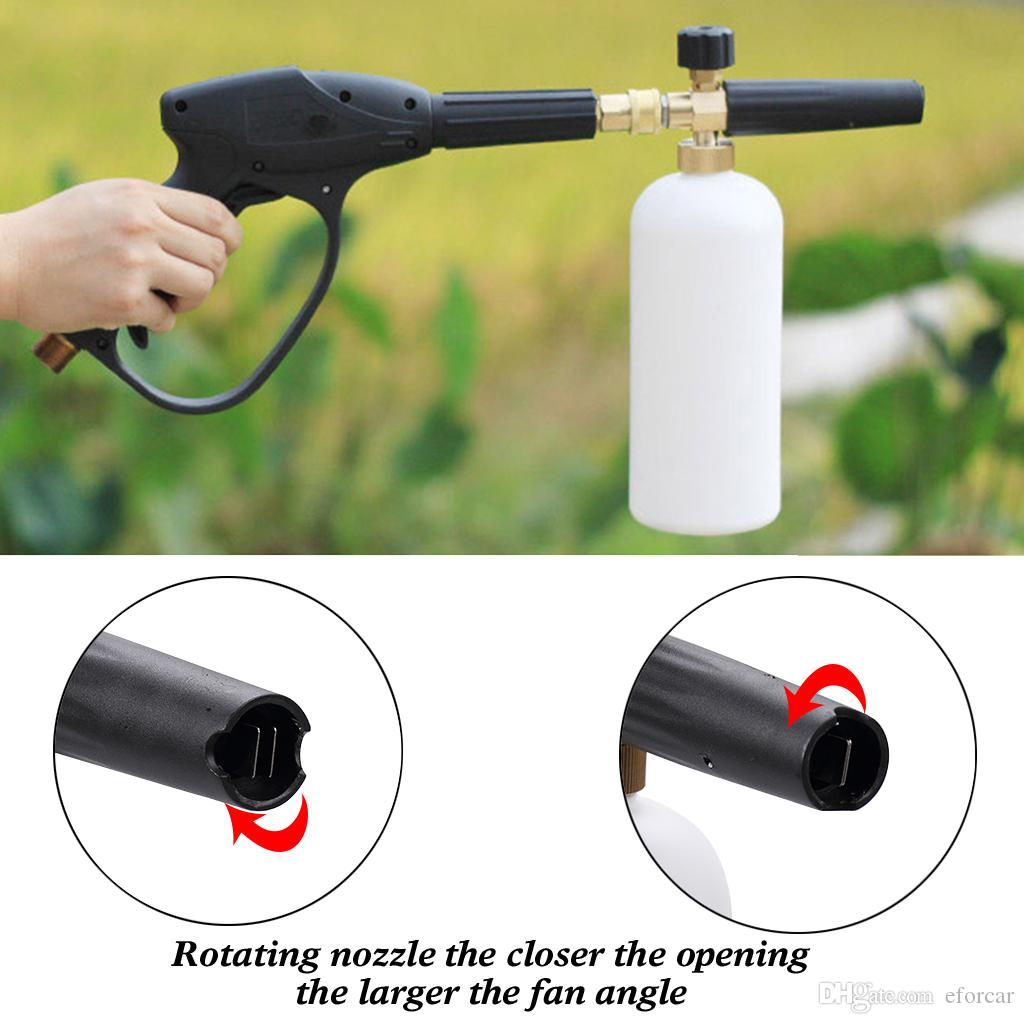 Lavadora de agua a alta presión de espuma de nieve para coches Lance Lavadora de coches Herramientas de limpieza Espuma pistola de agua