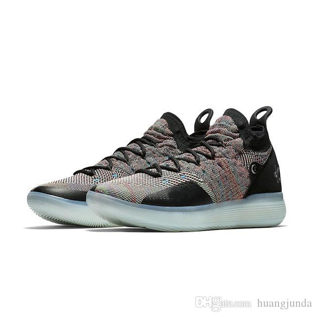 6f25578da98 2019 Cheap 2018 New Mens KD 11 XI Basketball Shoes Multicolor Hyper Blue  Easter EYBL Oreo Kevin Durant Kd11 Sneakers With Original Box For Sale From  ...