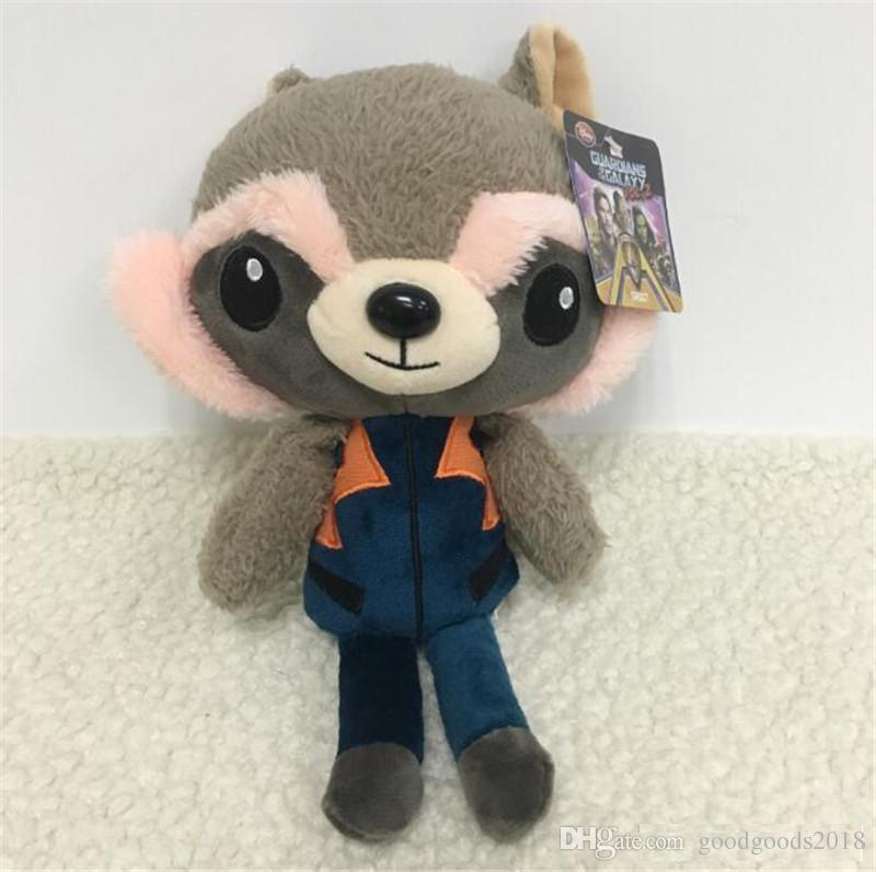 4Styles 20cm Guardians Galaxy Rocket Raccoon Guardian Star Lord Tree Man Baby Peluche Animali di peluche Bambole morbide to367