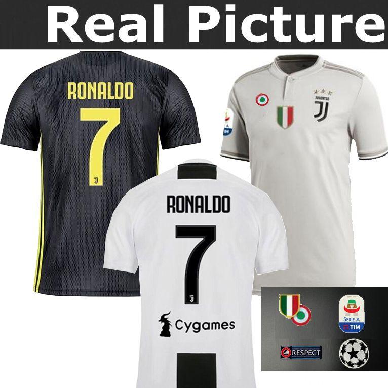 2018 19 RONALDO 7 Juventus Adulto Visitante Tercer Portero TOP Mejor 2018  201 DYBALA HIGUAIN BUFFON Chiellini MANDZUKIC Camiseta De Fútbol Local Por  ... 0e078f60930e4