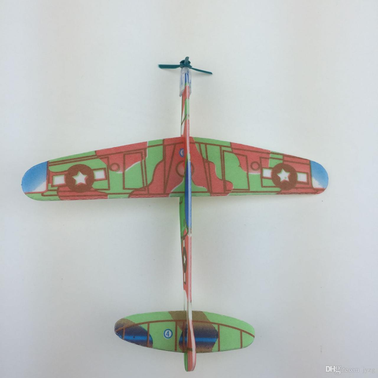 Toptan Bulmaca Sihirli Uçan Planör Uçak Düzlem Köpük Geri Uçak Çocuklar Çocuk DIY Eğitici Oyuncak