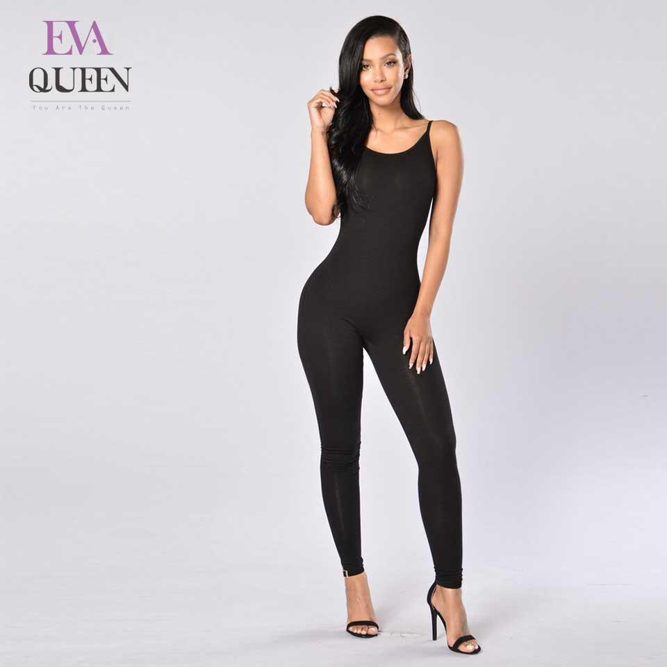 549a792cdc 2019 EvaQueen 2018 New Casual Style Solid Color Romper Playsuits V Neck  Sleeveless Bodycon Cotton Rompers Womens Jumpsuits From Baica
