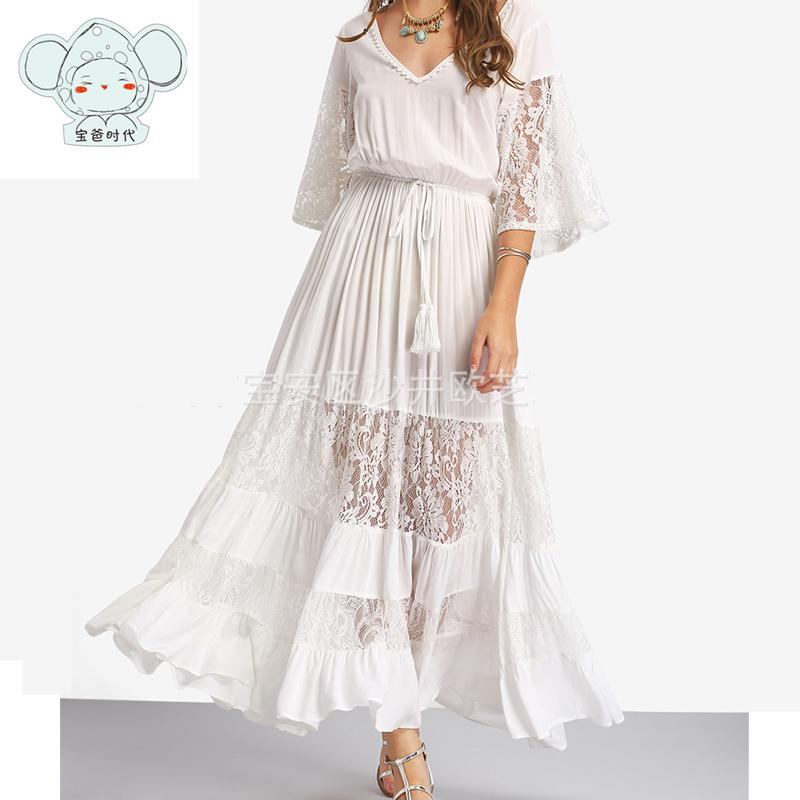 890d92eefd9f6 2019 Maternity Dress For Pregnant Women Photo Shooting White Dress Graphy  Props Stretch Cotton Pregnant Full Vestidos From Askkit, $35.11 | DHgate.Com