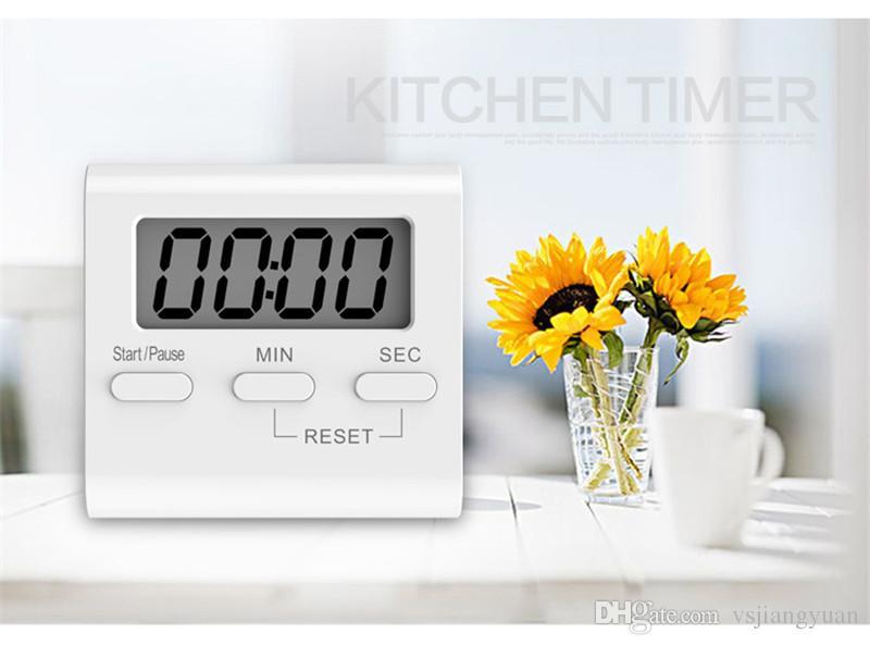 el LED digital del temporizador de cocina muestra el imán de adsorción posterior de volumen ajustable para diseñar el temporizador de precisión de material ABS verde